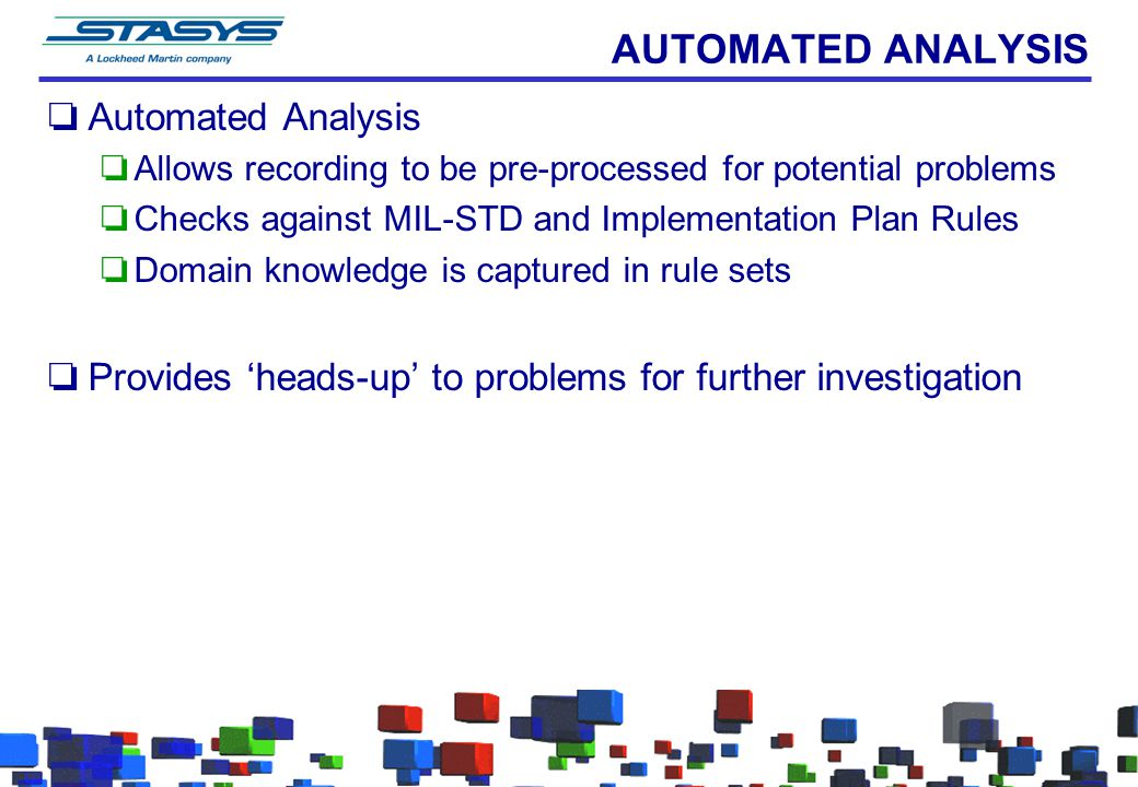 AUTOMATED ANALYSIS Automated Analysis