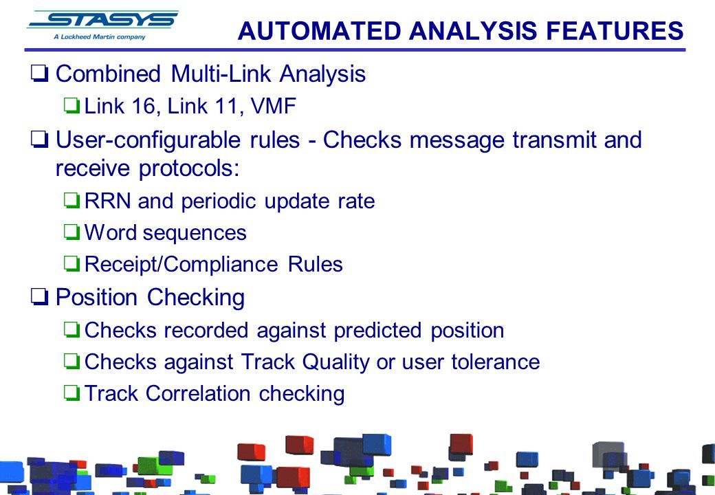 AUTOMATED ANALYSIS FEATURES