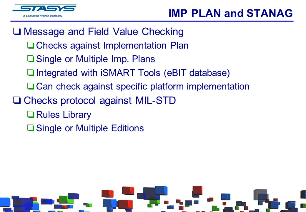 IMP PLAN and STANAG Message and Field Value Checking