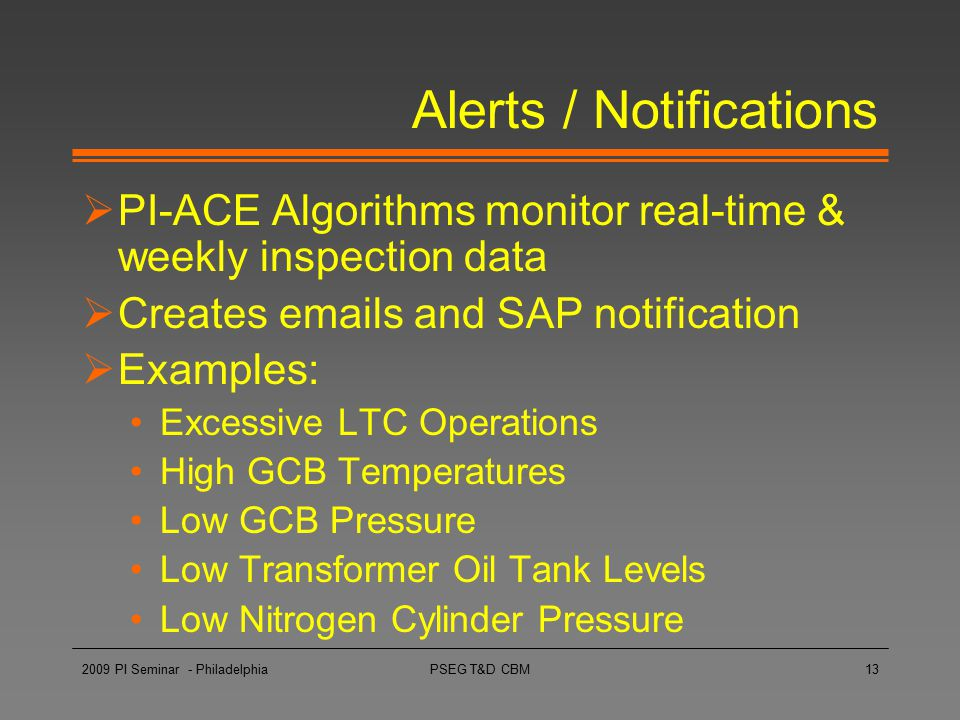 Alerts / Notifications