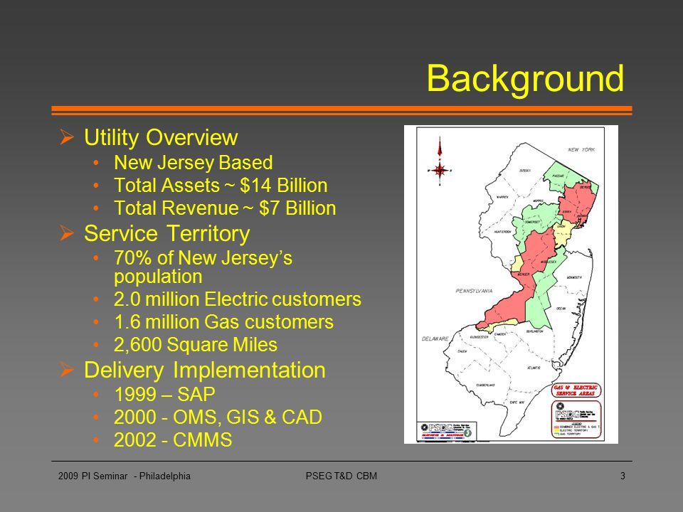 Background Utility Overview Service Territory Delivery Implementation