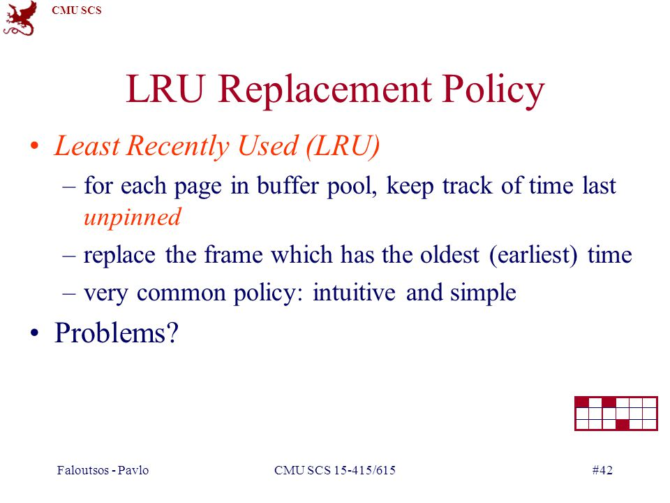 LRU Replacement Policy