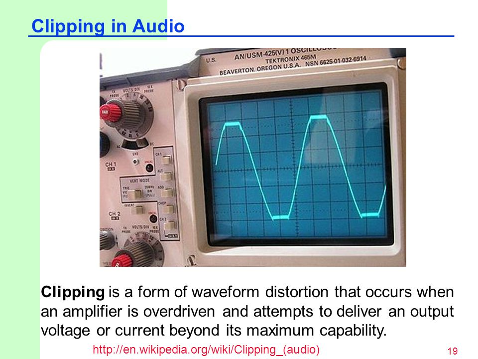 Clipping in Audio