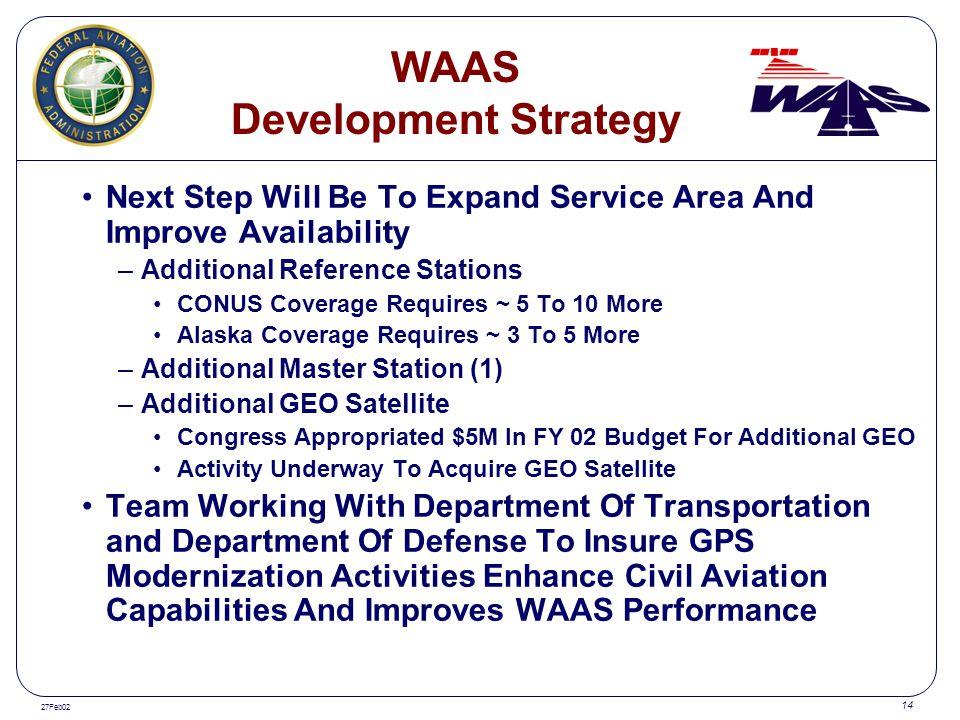 WAAS Development Strategy