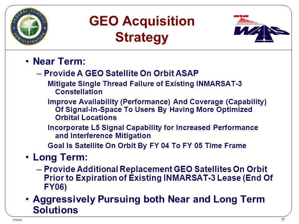 GEO Acquisition Strategy