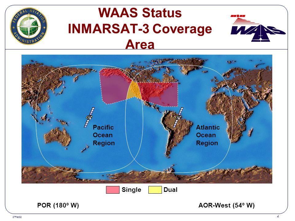 WAAS Status INMARSAT-3 Coverage Area
