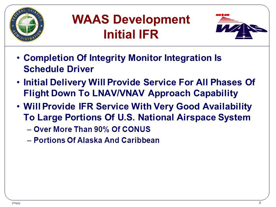 WAAS Development Initial IFR