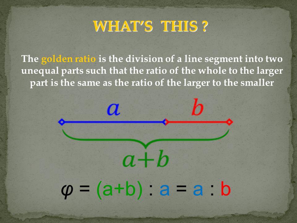 φ = (a+b) : a = a : b WHAT'S THIS