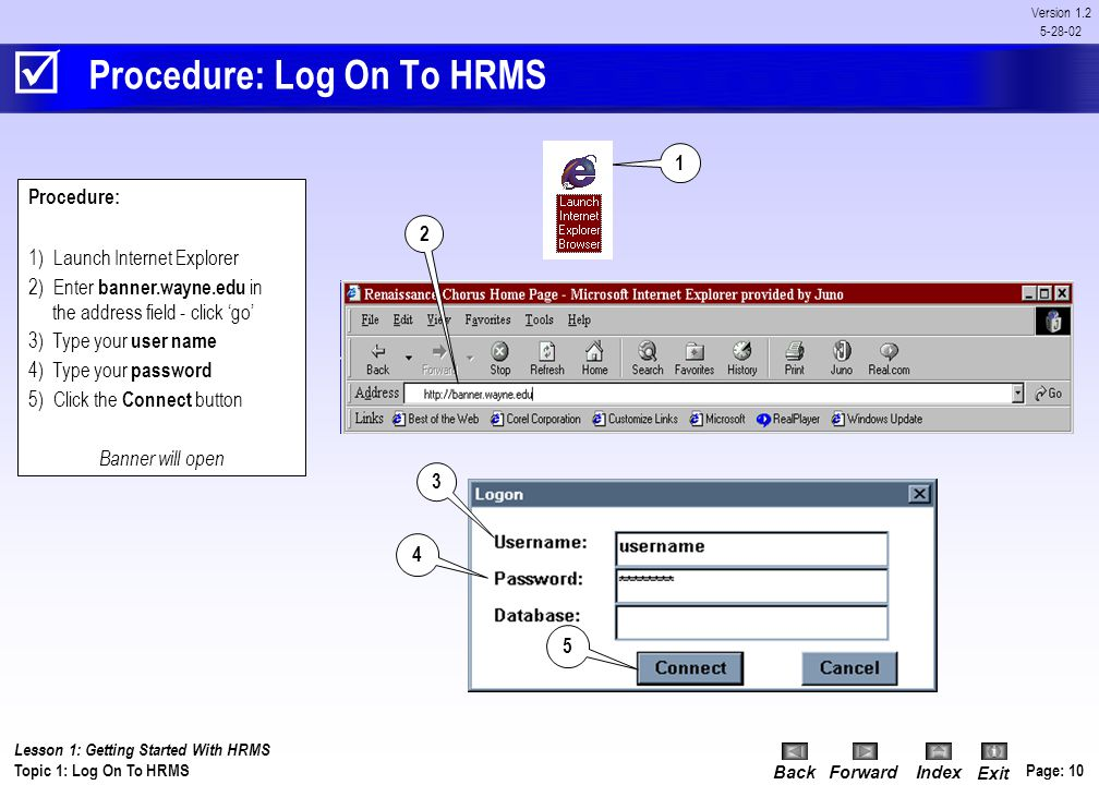 Procedure: Log On To HRMS