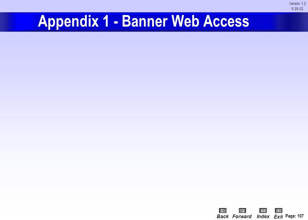 Appendix 1 - Banner Web Access