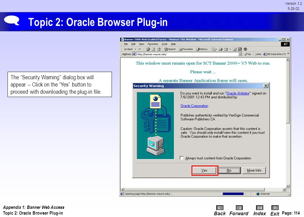 Topic 2: Oracle Browser Plug-in