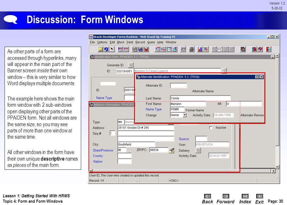 Discussion: Form Windows