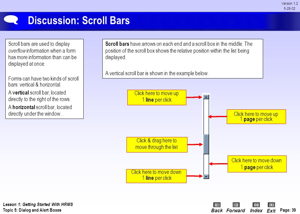 Discussion: Scroll Bars