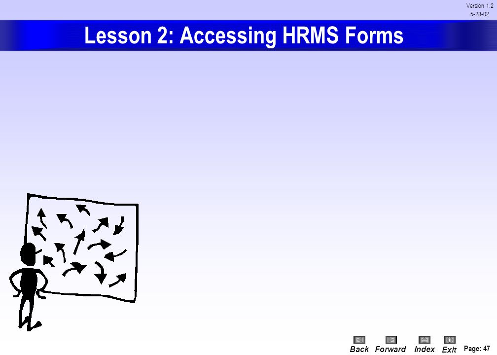 Lesson 2: Accessing HRMS Forms