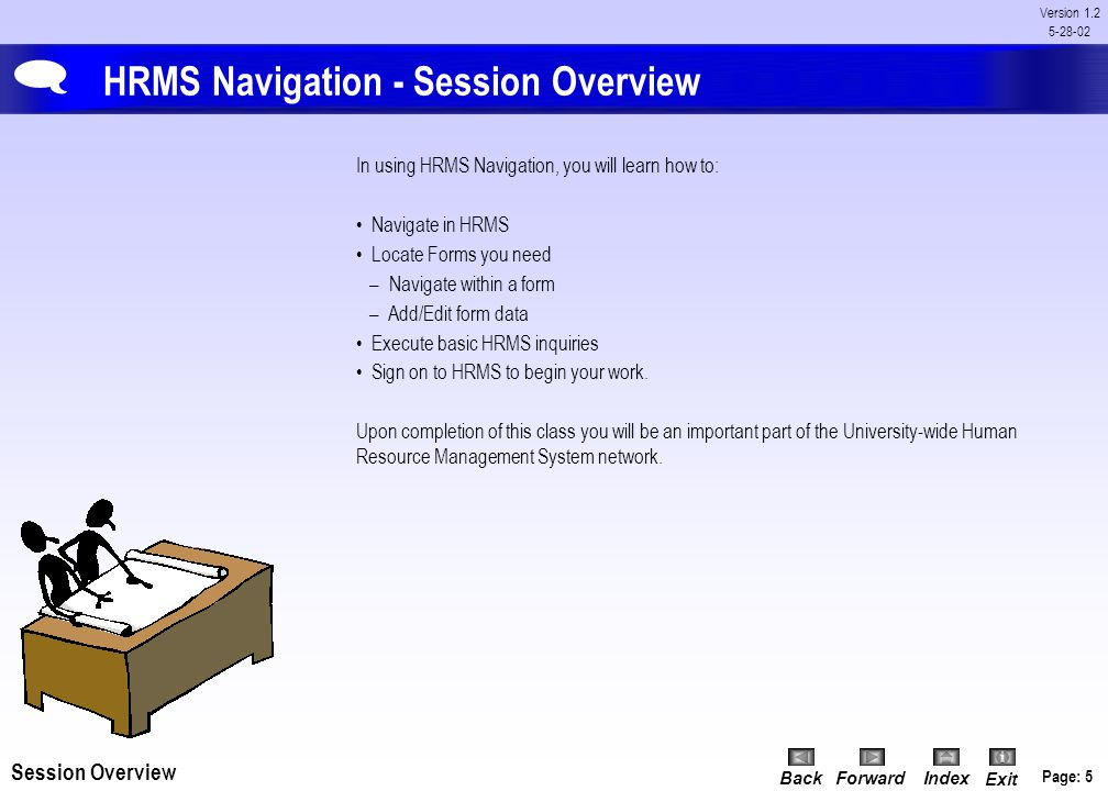 HRMS Navigation - Session Overview