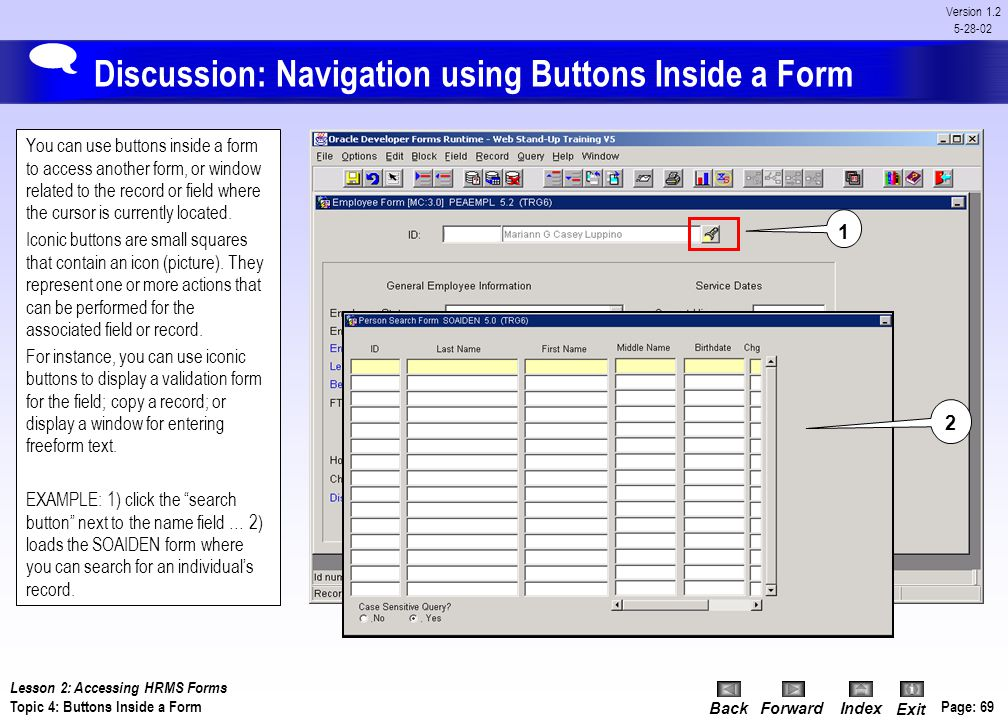Discussion: Navigation using Buttons Inside a Form