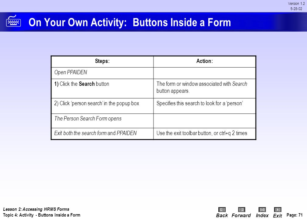On Your Own Activity: Buttons Inside a Form