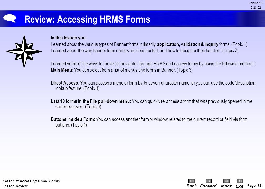 Review: Accessing HRMS Forms