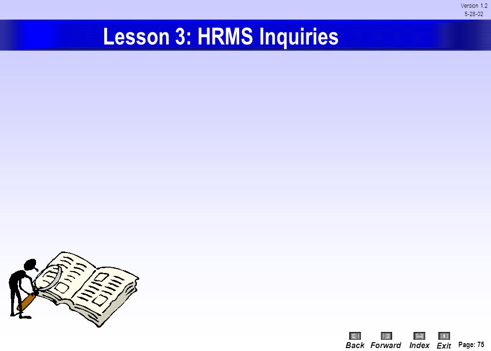 Lesson 3: HRMS Inquiries