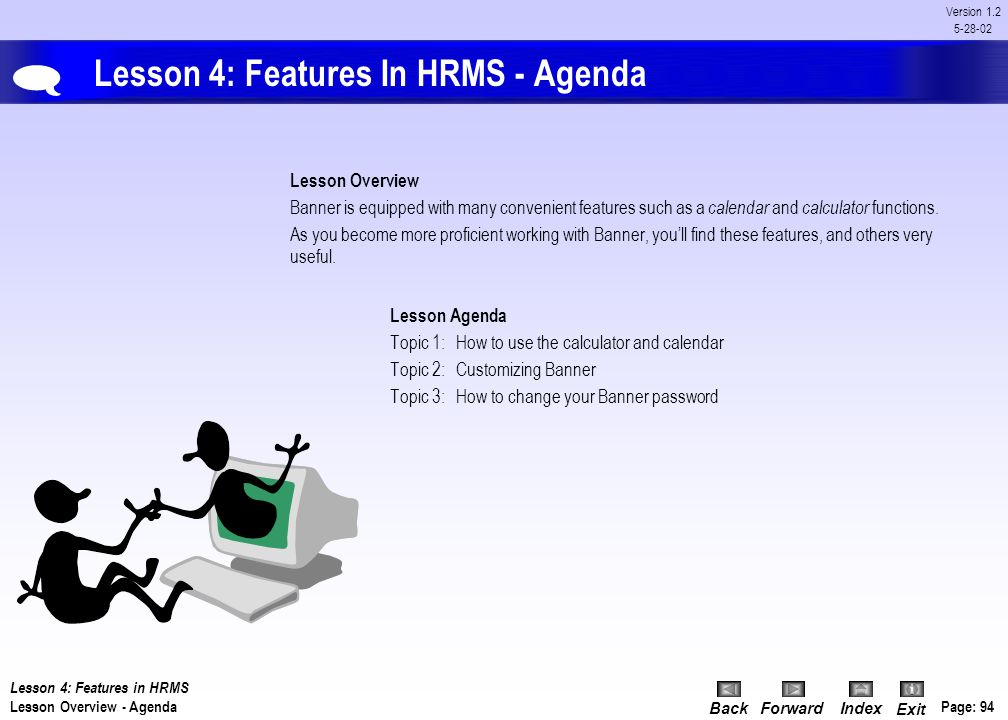 Lesson 4: Features In HRMS - Agenda