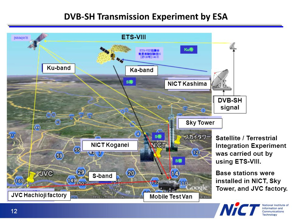 DVB-SH Transmission Experiment by ESA
