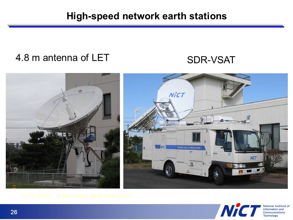 High-speed network earth stations