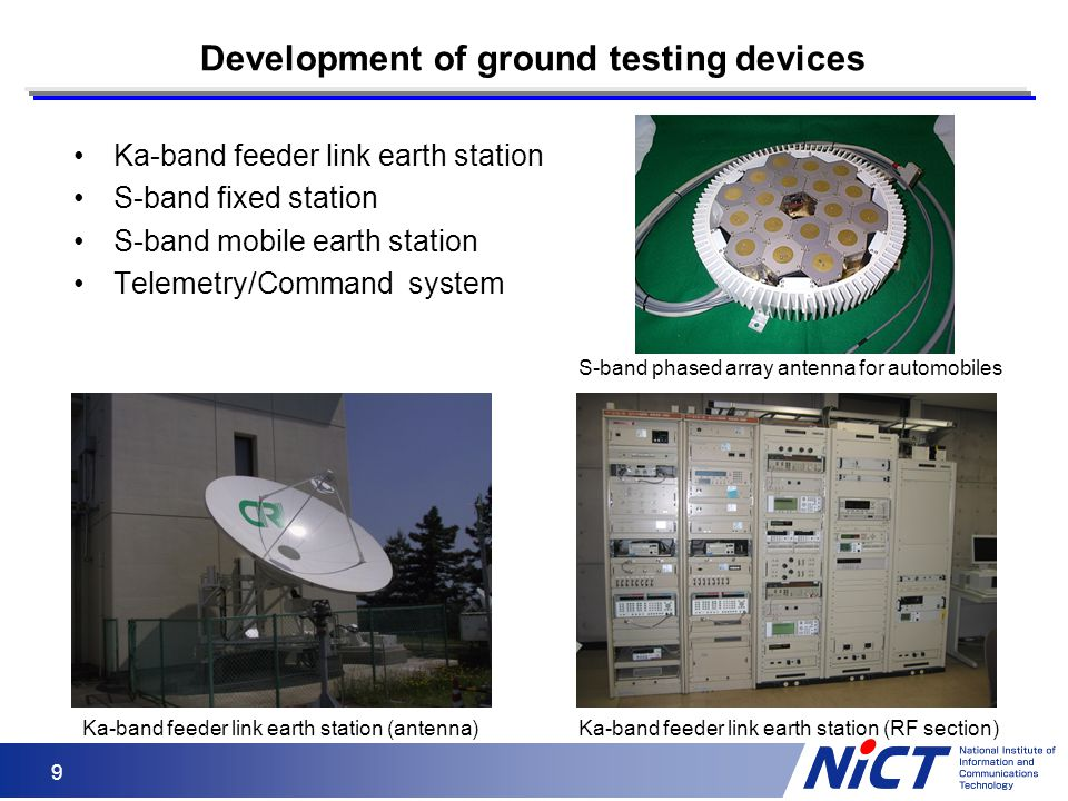 Development of ground testing devices