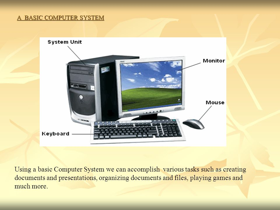A BASIC COMPUTER SYSTEM