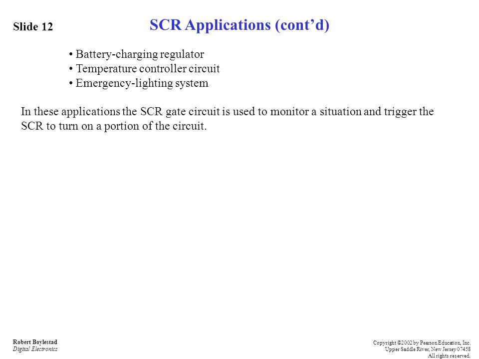 SCR Applications (cont'd)