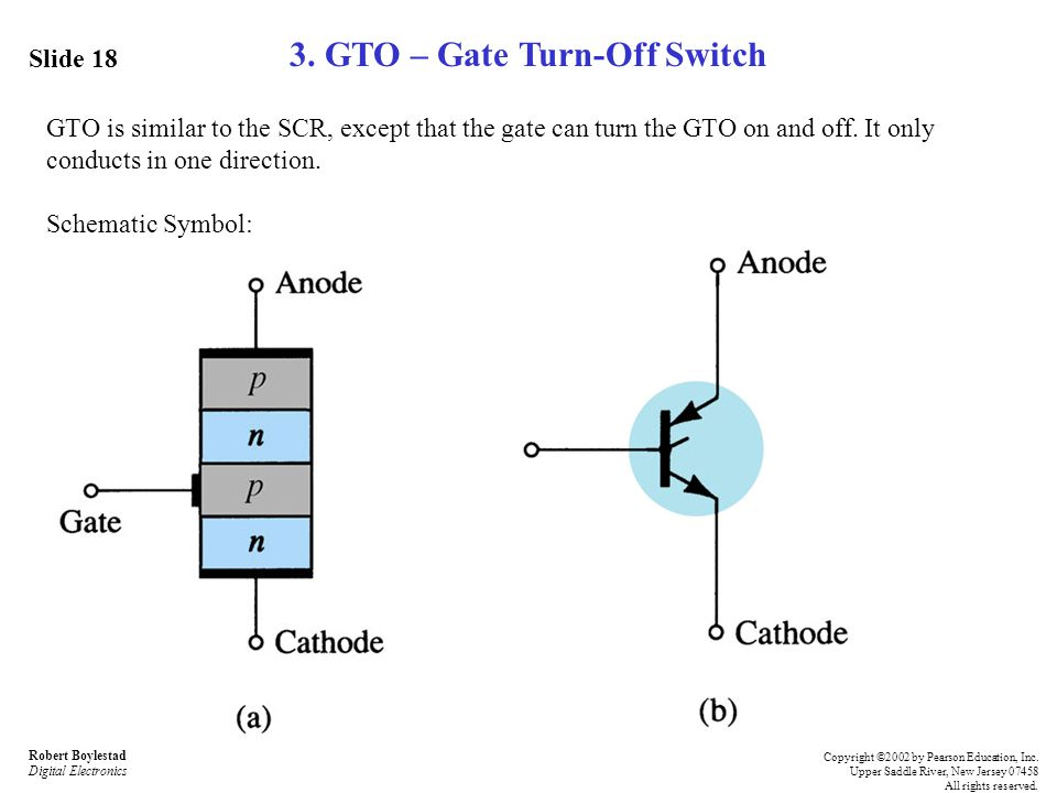 3. GTO – Gate Turn-Off Switch