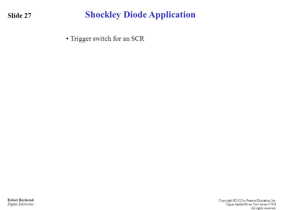 Shockley Diode Application