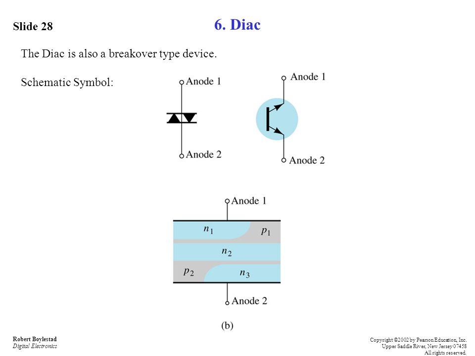 6. Diac Slide 28 The Diac is also a breakover type device.