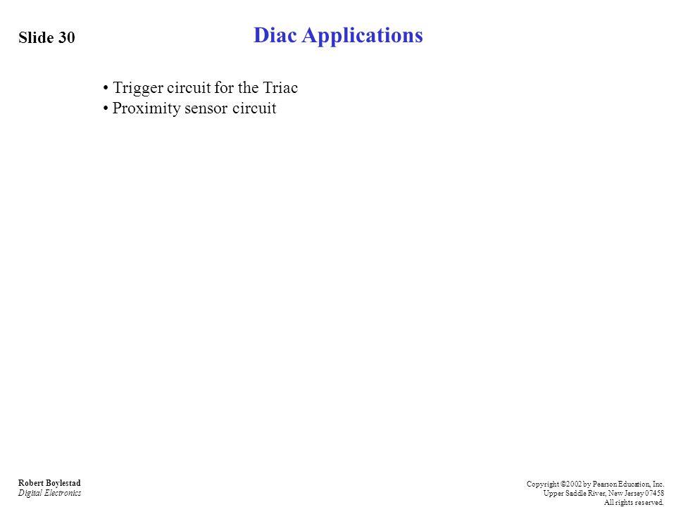 Diac Applications Slide 30 • Trigger circuit for the Triac