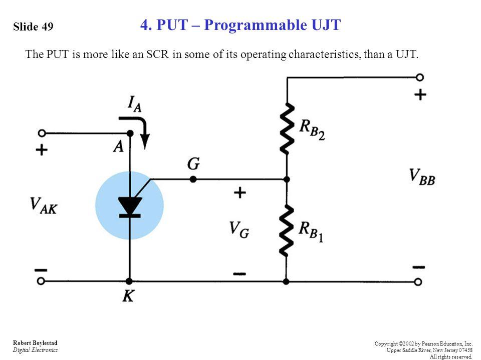4. PUT – Programmable UJT Slide 49