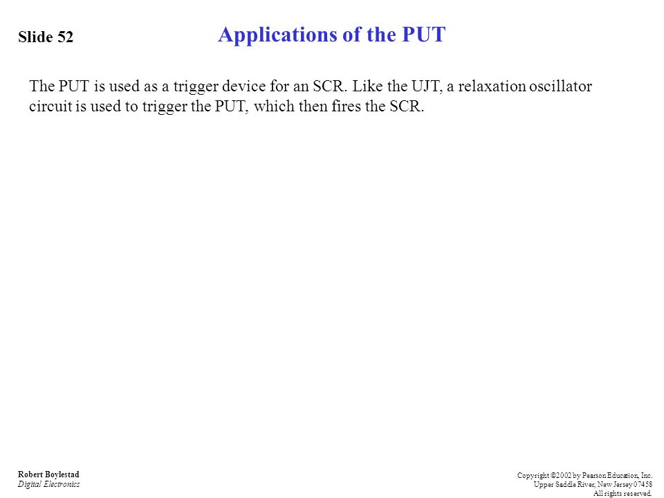 Applications of the PUT