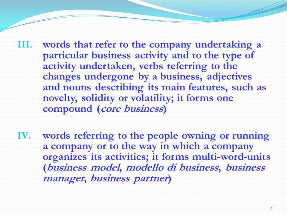 words that refer to the monetary value of a company or business sector: