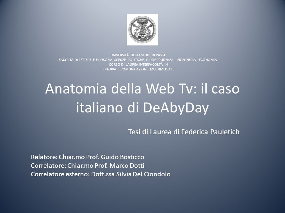 Anatomia della Web Tv: il caso italiano di DeAbyDay