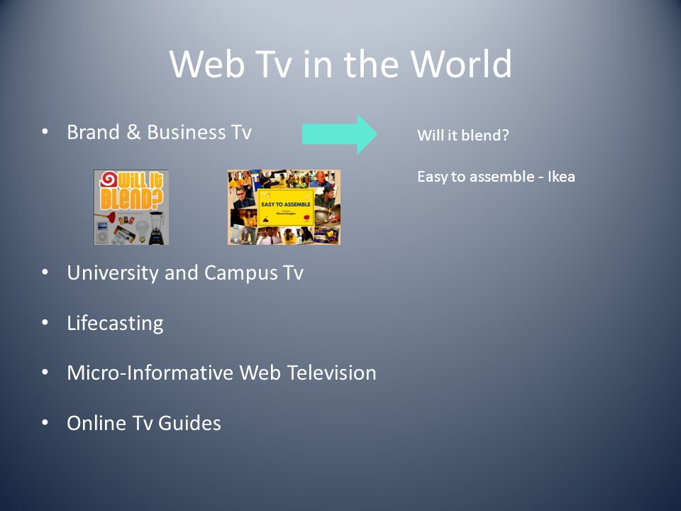 Web Tv in the World Brand & Business Tv University and Campus Tv