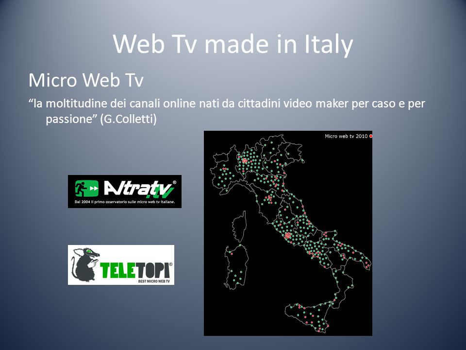Web Tv made in Italy Micro Web Tv
