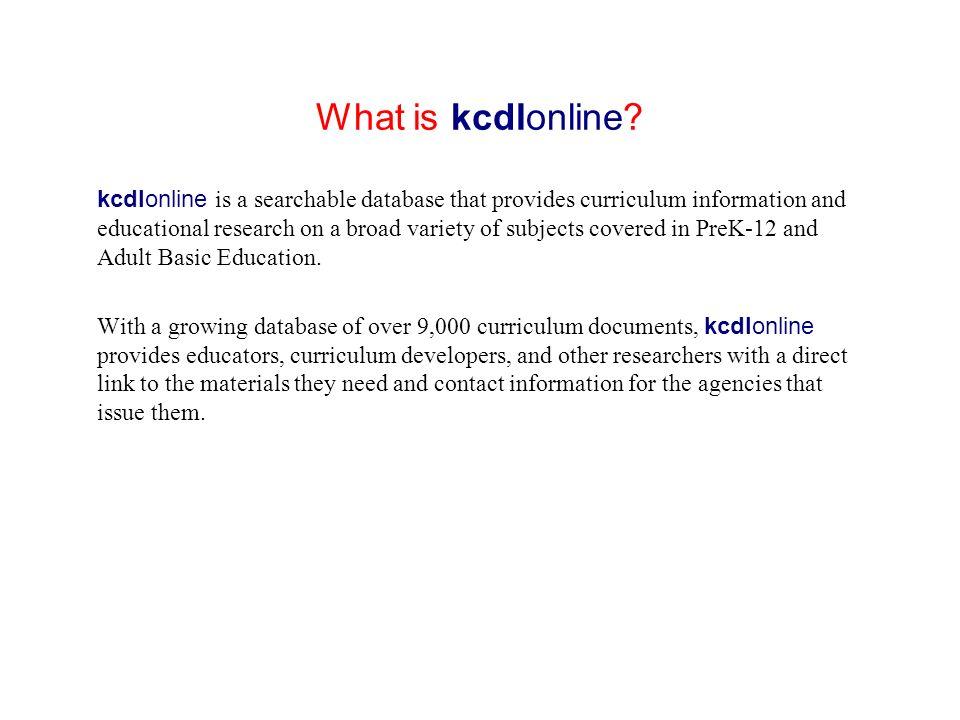 What is kcdlonline