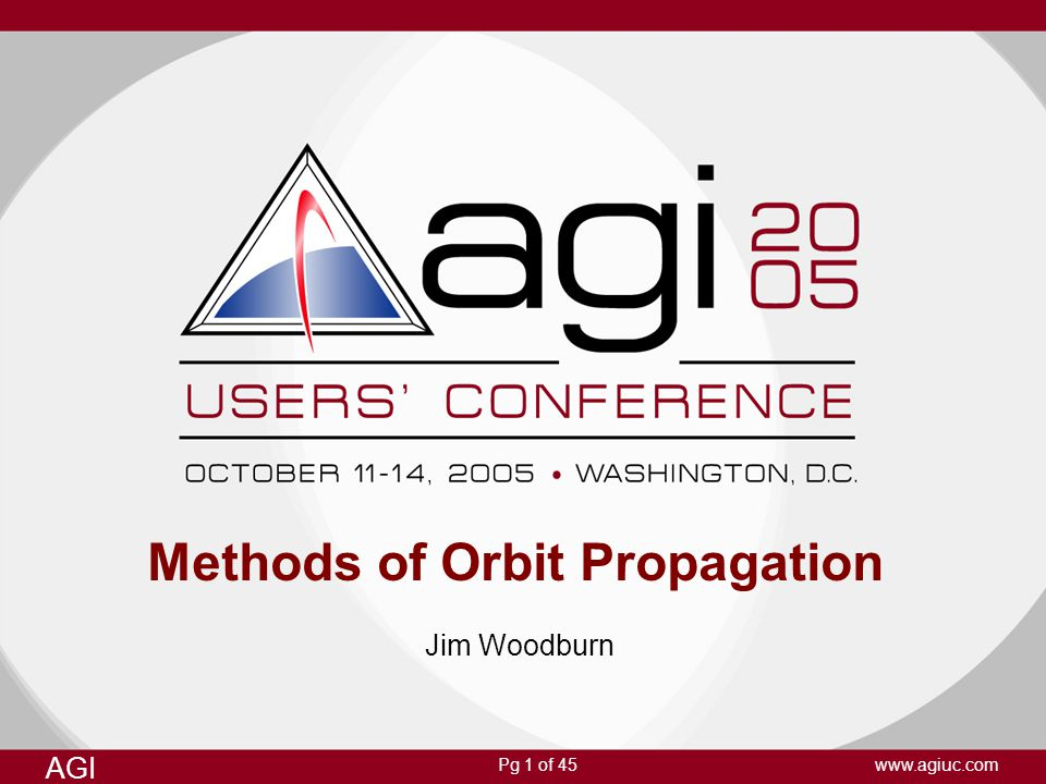 Methods of Orbit Propagation