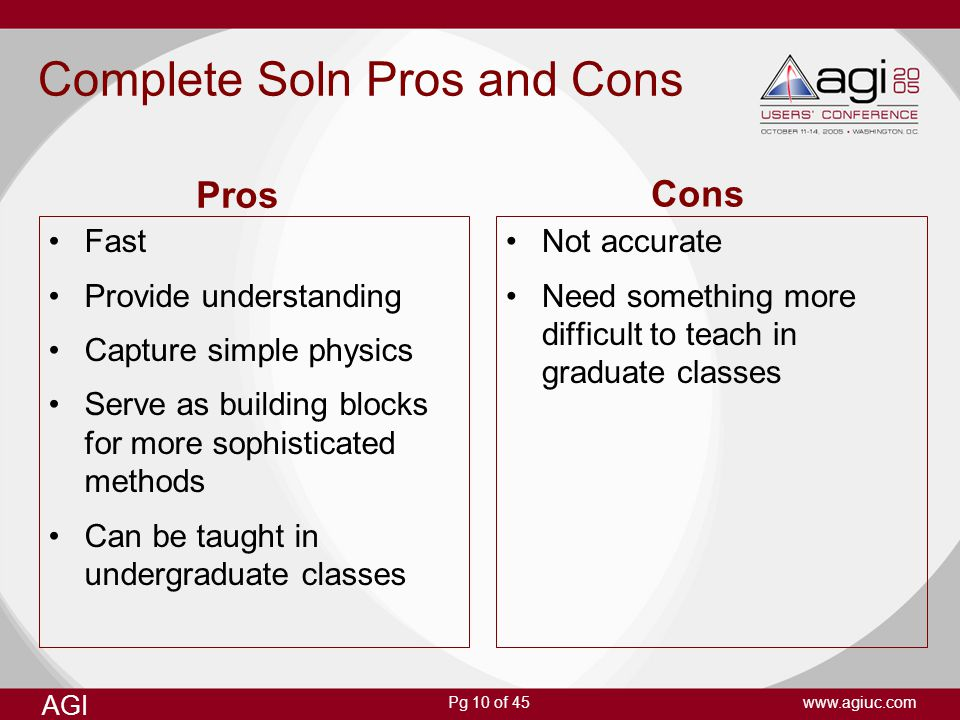 Complete Soln Pros and Cons