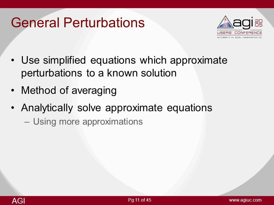 General Perturbations
