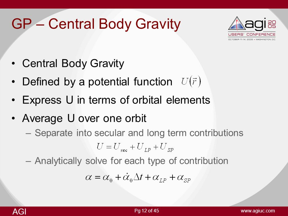 GP – Central Body Gravity