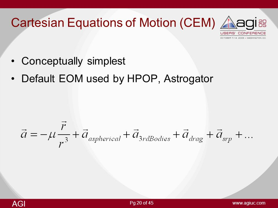 Cartesian Equations of Motion (CEM)