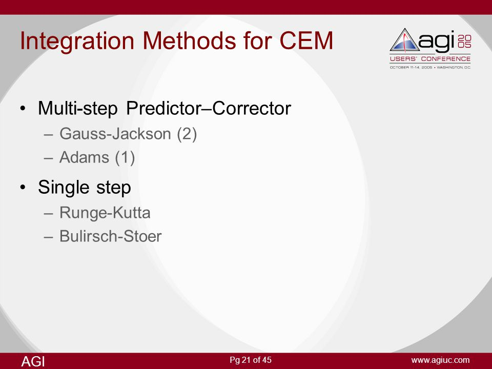 Integration Methods for CEM