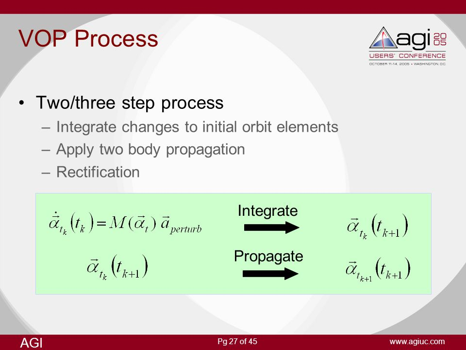 VOP Process Two/three step process