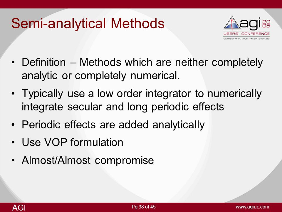Semi-analytical Methods