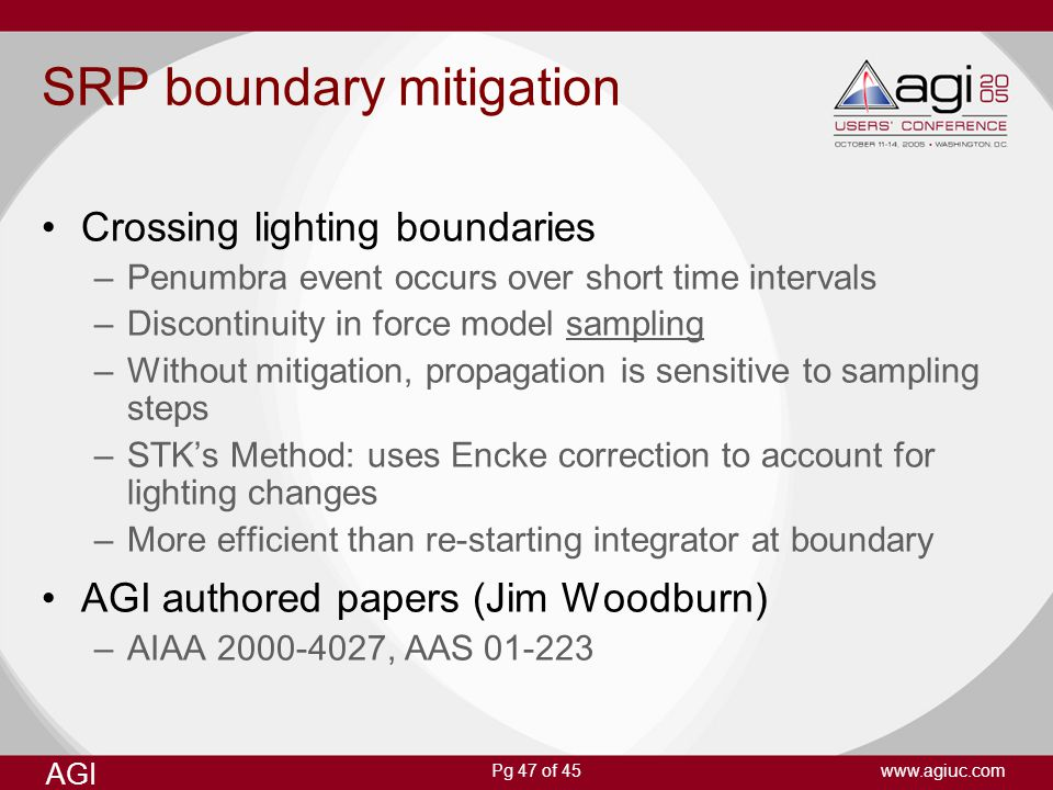 SRP boundary mitigation