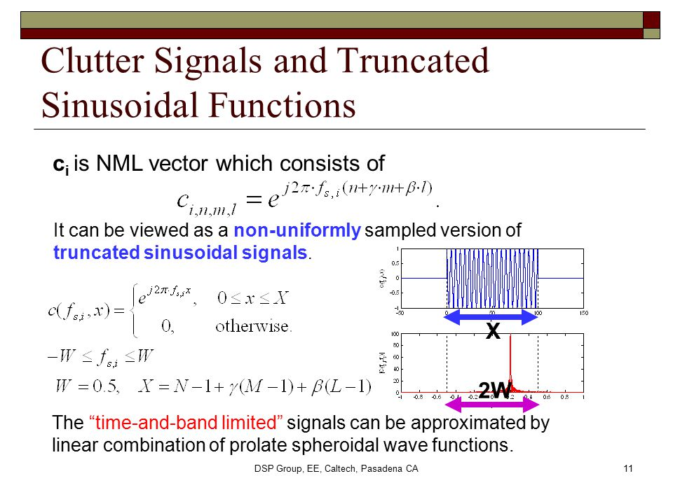 Clutter Signals and Truncated Sinusoidal Functions